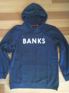 BANKSロゴパーカー
